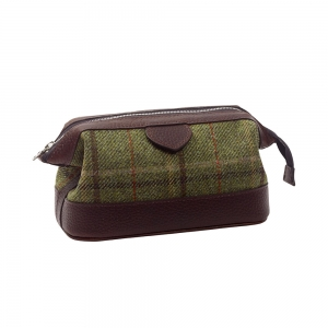 Green Tweed Washbag