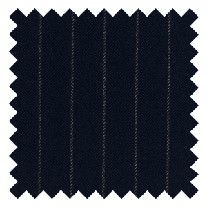 Navy Muted Chalk Stripe Made To Order