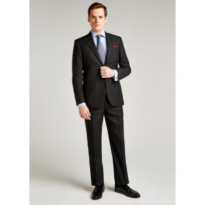 Tailored Fit Charcoal Pic and Pic Suit