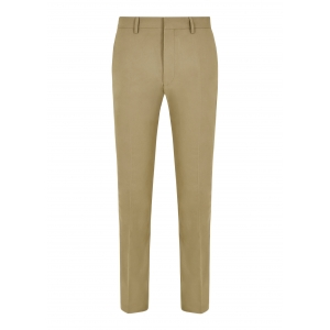 Beige Cotton Twill Trousers
