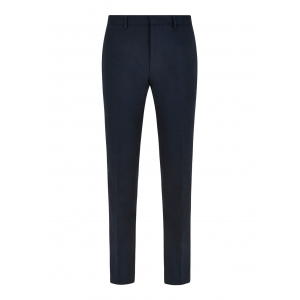 Navy Cotton Twill Trousers