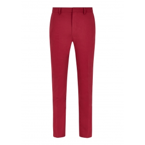 Redcurrant Cotton Twill Trousers