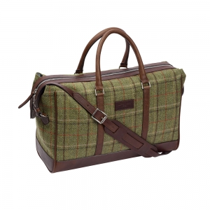 Green Tweed Overnight Bag