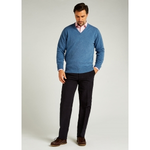 Clyde Lambswool V Neck Sweater