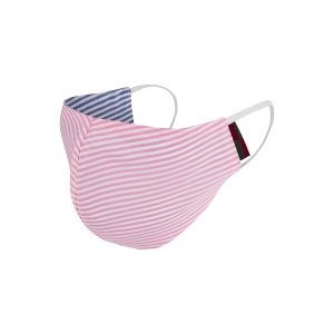 Wide Pink And Blue Stripe Mask