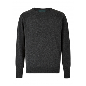 Charcoal Lambswool Crew Neck Sweater