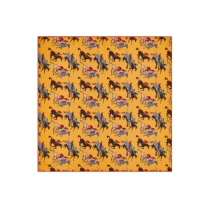 Yellow Racing Silk Pocket Square
