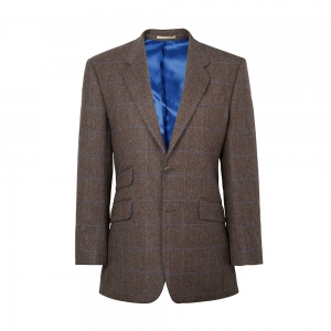 Brown/Sky Windowpane Jacket