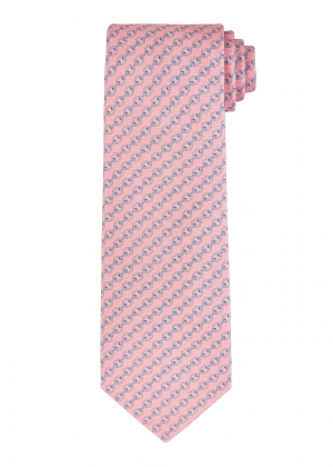 Pink and Blue Chain Tie