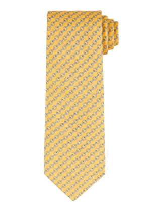 Yellow and Blue Chain Tie