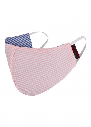 Pink And Blue Check Mask