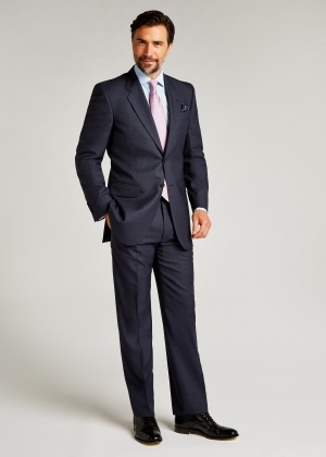 Classic Fit Mid Blue Pic and Pic Suit