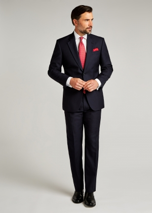 Classic Fit Navy Pic and Pic Suit