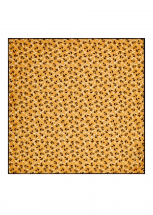 Gold Anchors and Oars Silk Pocket Square