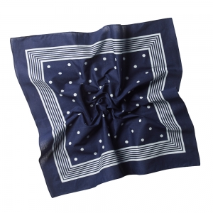 Bandana Navy Blue/White
