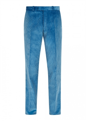 Blue Made To Order Corduroy Trousers