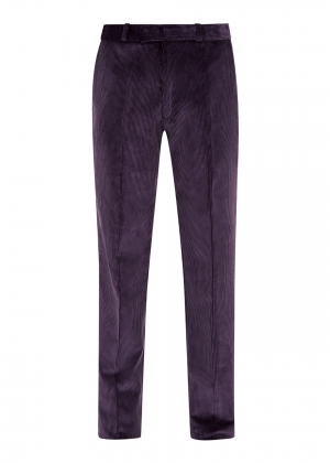 Purple Made To Order Corduroy Trousers