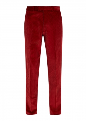Rich Red Made To Order Corduroy Trousers