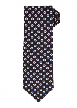 Navy Blue Hexagon Tie