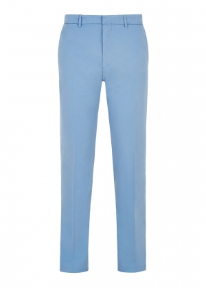 Lt Blue Peached Cotton Trousers