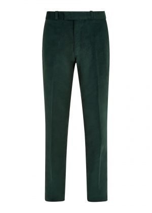 Dark Green Made To Order Moleskin Trousers