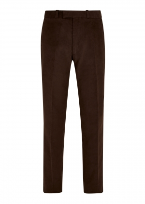 Dark Brown Made To Order Moleskin Trousers