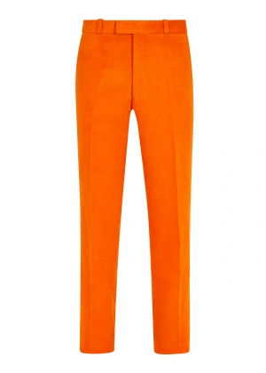 Orange Made To Order Moleskin Trousers