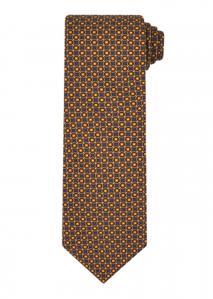 Wine and Gold Mosaic Tie