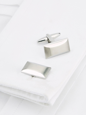 Oblong Bevelled Cufflinks