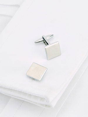 Square Bevelled Cufflinks