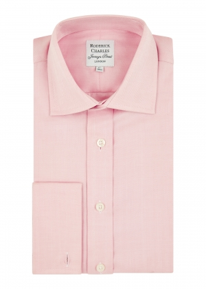 Pink Herringbone Shirt