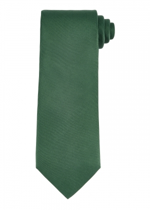 Plain Dark Green Silk Tie