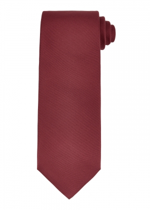 Plain Wine Silk Tie