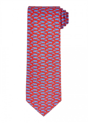 Red Rhinoceros Tie