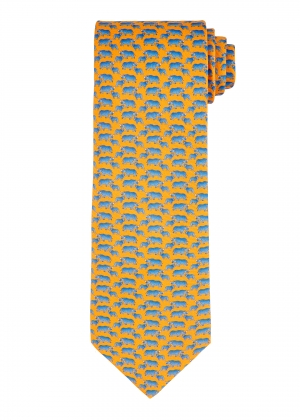 Yellow Rhinoceros Tie