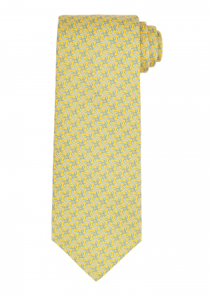 Yellow Ring Lozenge Tie