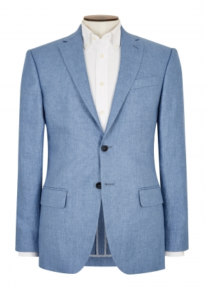 Tailored Fit Azure Semi Plain Jacket