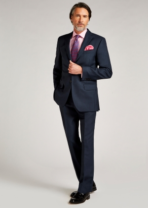 Tailored Fit Blue Pic and Pic Suit