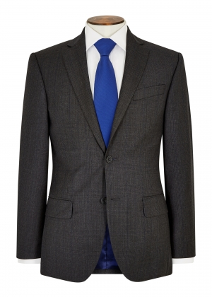 Tailored Fit Grey/Royal Check Suit