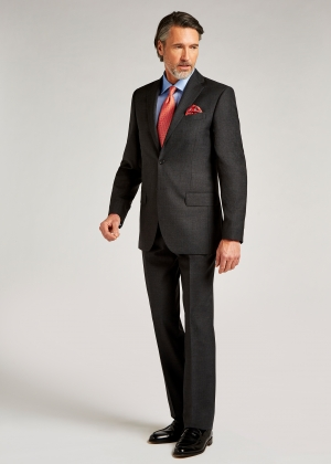 Tailored Fit Mid Grey Pic and Pic Suit