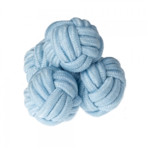 Light Blue Silk Knots