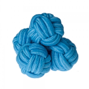 Aquamarine Silk Knots