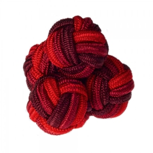 Burgundy/Red Silk Knots