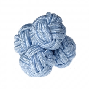 Pale Blue Silk Knots