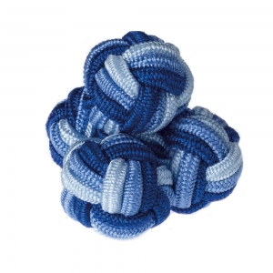Blue & Navy Silk Knots