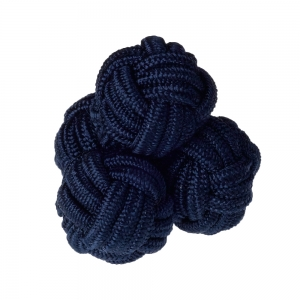 Dark Navy Silk Knots