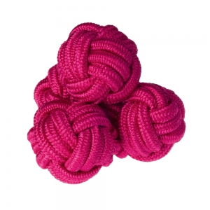 Plain Cerise Silk Knots