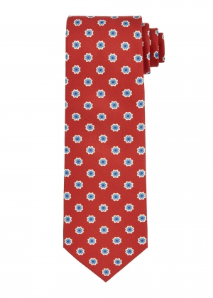 Red Flower Tie