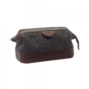 Grey Tweed Washbag