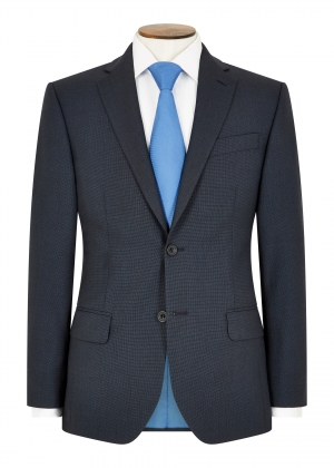 Tailored Fit Blue Micro Check Suit
